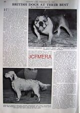 """""""BRITISH DOGS AT CRUFTS"""" - 1952 Magazine Article (2-Sided Cutting)"""