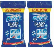 100 PACK Jumbo Duzzit Glass Window Mirror Cleaning Wipes (2 Pack)