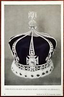 The State Crown of Queen Mary, Consort of George V. Post Card