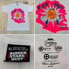 KSHE 95 - Vtg 1992 Hot Pink Charity Basketball Screen Stars T-shirt, LARGE/XL