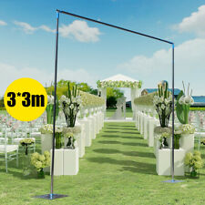 3x3m Telescopic Heavy Duty Pipe and Drape Kit Wedding Backdrop Stand Set 10x10ft