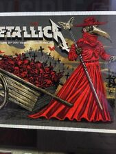Metallica Lithograph London AP Knob Night 1 Munk One Gold Foil Signed XX/70
