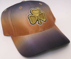NOTRE DAME FIGHTING IRISH Clover Leaf Fitted NCAA Cap/Hat - Blue/Gold