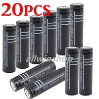 20X Li-ion Battery 6000mAh 3.7V Rechargeable Battery For Led Flashlight Torch US