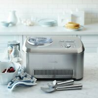 Breville BCI600XL-R Silver Smart Scoop 1.5 Quart Ice Cream Maker
