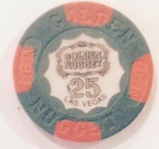 Golden Nugget Hotel $25.00 Casino Chip House Mold Las Vegas Nevada