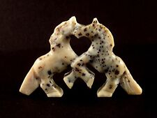 Carol Martinez-Appaloosa Horses-Zuni Fetish-Native American-Stone Carving