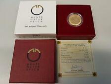 2002 ORDEN UND DIE WELT - AUSTRIA 50 Euro € Gold 10g fein PP/OVP (50T)