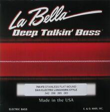 LA BELLA 760-FD FLAT WOUND STRINGS FOR DANELECTRO LONGHORN BASS,  42-83