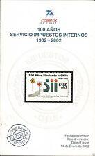 Chile 2002 Brochure 100 años Servicio de Impuestos Internos