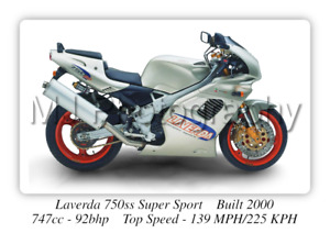 Laverda 750ss Super Sport Motorcycle A3 Size Poster on Photographic Paper