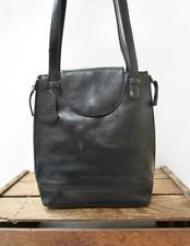 DEREK ALEXANDER Black Distressed Leather Multipocket Organizer Tote Bag Purse