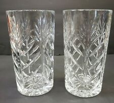 MIKASA Crystal Larchmont Highball Glasses or Tumblers Set of Two