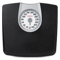 Bathroom Weight Scale Body Health Fitness Fat Black Mechanical 330 Lbs Analog