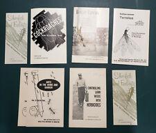 1950-68 Dept of Agriculture Bulletins: Home&Garden Pests, Plants, DDT, Chlordane