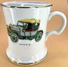 "Vintage Shaving Mug Cup Soap Rest Antique Car 1910 Morris Porcelain Japan 4""x 3"""