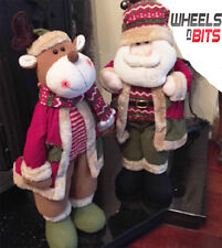 "NEW Cute Santa & Reindeer Set 21"" Standing Christmas Decoration Ornament Set 163"