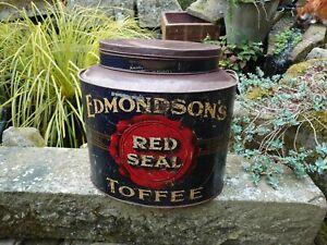 Very Large Shop Display Toffee Tin Edmondson's Red Seal