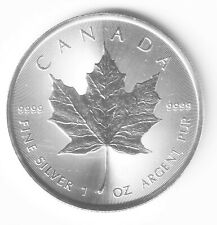 Canadian RCM 1 ounce 99.99% silver Maple Leaf