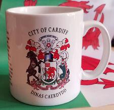 Cardiff, crest of the city mug