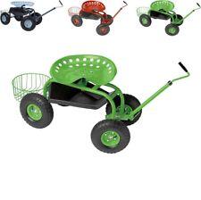 GARDY Sgabello seduta con ruote per giardinaggio orto potatura mobile sella da x