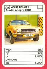 1970's/'80's ACE TRUMP GAME Great Britain I Series AUSTIN ALLEGRO 1500 CARD #A2