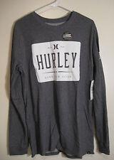Hurley Sport Dri-Fit Premium Tshirt Long Sleeves NWT L Cotton Blend Heather Gray