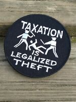 TAXATION IS THEFT VELCRO® BRAND FASTENER PATCH