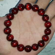 18 Translucent Beads Amazing Sea Willow Bracelet Genuine Black Coral 11.5 MM #06