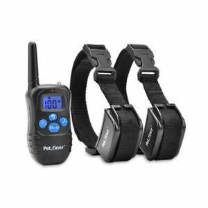 Rechargeable Rainproof 100lvs Remote Pet 2 Dog Training Shock Collar