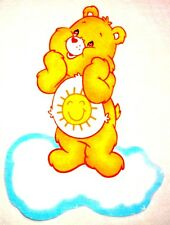 "12""  Care bears funshine bear fabric applique iron on character"