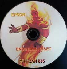 EPSON ARTISAN 835 PRINTER REPAIR RESET DISC CD