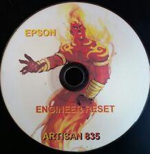 EPSON ARTISAN 835 PRINTER REPAIR RESET DISC CD