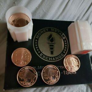 Lot of 20 Indian Buffalo .999 UNC Fine Copper 1/2 oz. Bullion Round Coins
