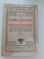 Karl W.Hiersemann Leipzig Choice Kollektion Selten Und Valuable Books 1904