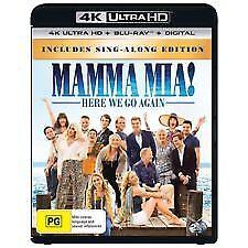 Mamma Mia - Here We Go Again! 4K UHD (Blu-ray, 2018, 2-Disc Set) NEW & SEALED