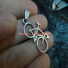 Lot 5pcs Polished bicycle charms pendant stainless steel Silver Fashion