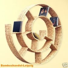 CD-REGAL SCHNECKE WANDREGAL WASSERHYAZINTHE Natur Regal Schneckenform 81 cm