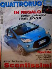 Quattroruote 640 2009 Prove Ford Ka, Mégane, Scirocco, Clio e Fabia Sw [Q86]