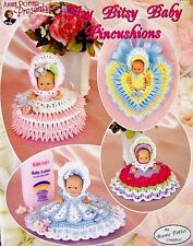 """Crochet Itsy Bitsy Baby Pincushions Patterns for 5"""" Dolls  Annie Potter Original"""