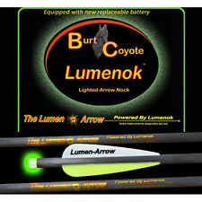 "Burt Coyote Lumenok 20"" Carbon Bolt Green Flat End 3pk #00312 BECF3G Crossbow"