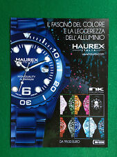 PV88 Pubblicità Advertising Clipping 28x21 cm - HAUREX ITALIA OROLOGI WATCH
