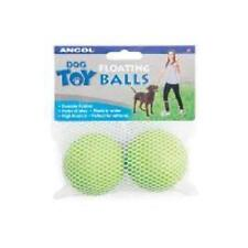 Ancol Floating Water Bouncing Balls Fetch Throw Rubber Dog Puppy Toy 2-Pack