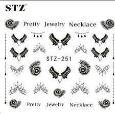 Nail Art Decoration Stickers nails accessory black jewlery STZ-251
