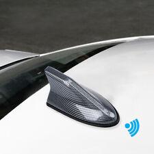 Car SUV Shark Fin Roof Antenna Radio AM/FM Signal Aerial Universal Carbon Fiber