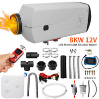 12V 8KW All In One Diesel Air Heater LCD Thermostat Car Parking Heater for Truck