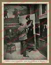Julius rouge Atelier outre-mer peinture portrait Melms-Brown impressionnisme 1905!!!