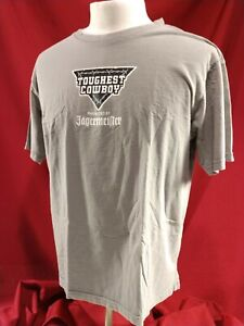 Jagermeister Toughest Cowboy Grey T Shirt Men's size XL