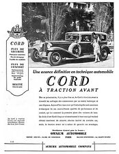 AMERICAN CAR CORD  MONTRES WATCHES BURMA PUBLICITE 1930