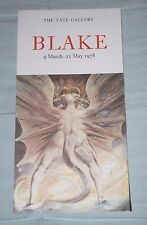 Blake, rare 1978 LA Tate Gallery Exhibition notice, DRAGON ROUGE & femme avec Sun